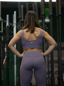 Motus Seamless Y Sports Bra - Dark Purple