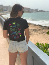 Load image into Gallery viewer, Summer Doodle Flowy Cropped Tee