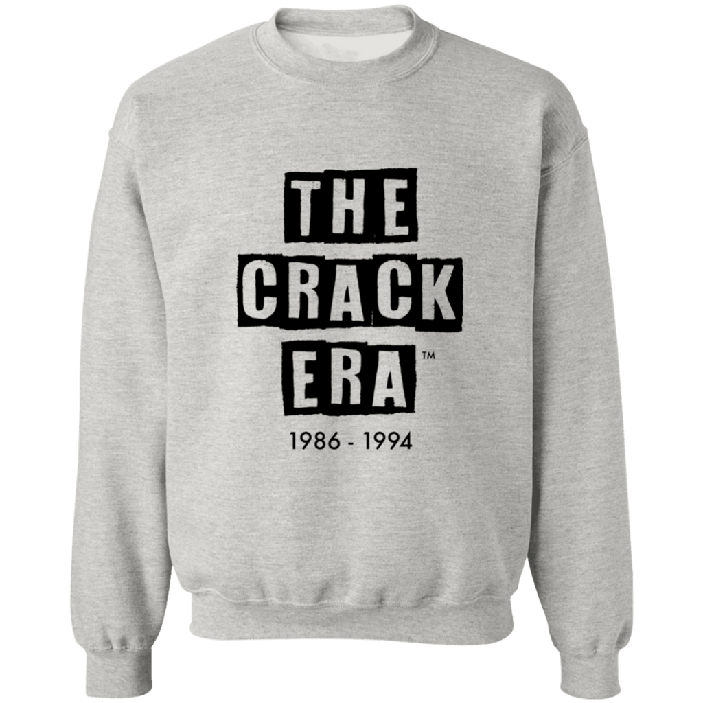 The Crack Era Crew Sweatshirt (unisex) - Black Tar Logo