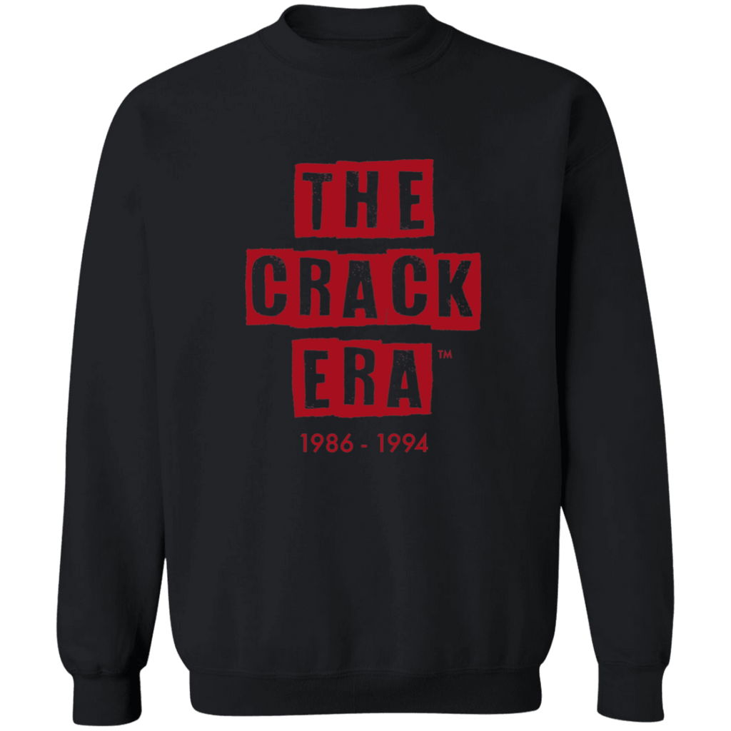 The Crack Era Crew Sweatshirt (unisex) - Blood Red Logo