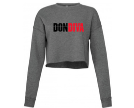 Don Diva Logo Women's Cropped Sweatshirt