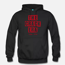 The Crack Era Hoodie (unisex) - Blood Red Logo