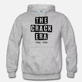 The Crack Era Hoodie (unisex) - Black Tar logo