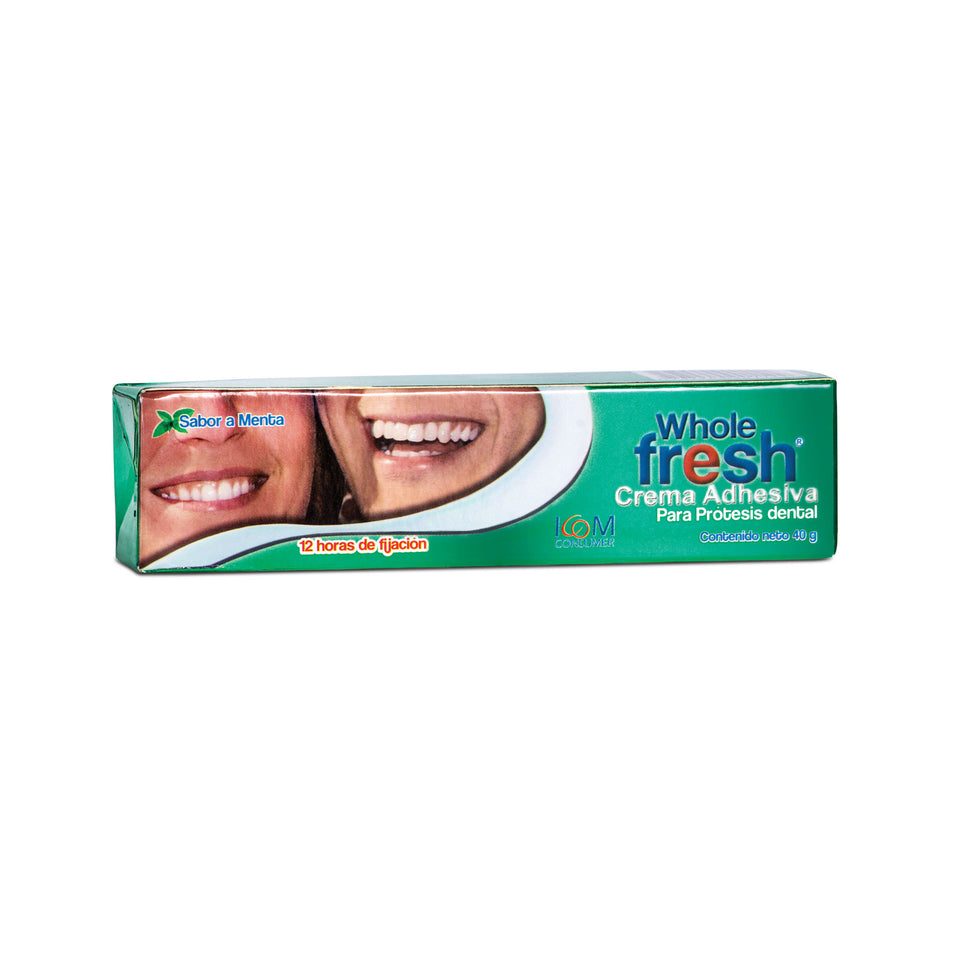 Crema Adhesiva de Prótesis Dental Whole Fresh Sabor Menta (2 Tamaños)