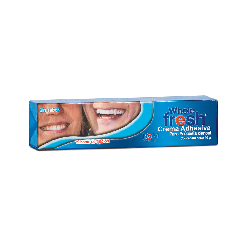 Crema Adhesiva de Prótesis Dental Whole Fresh Sin Sabor (2 Tamaños)