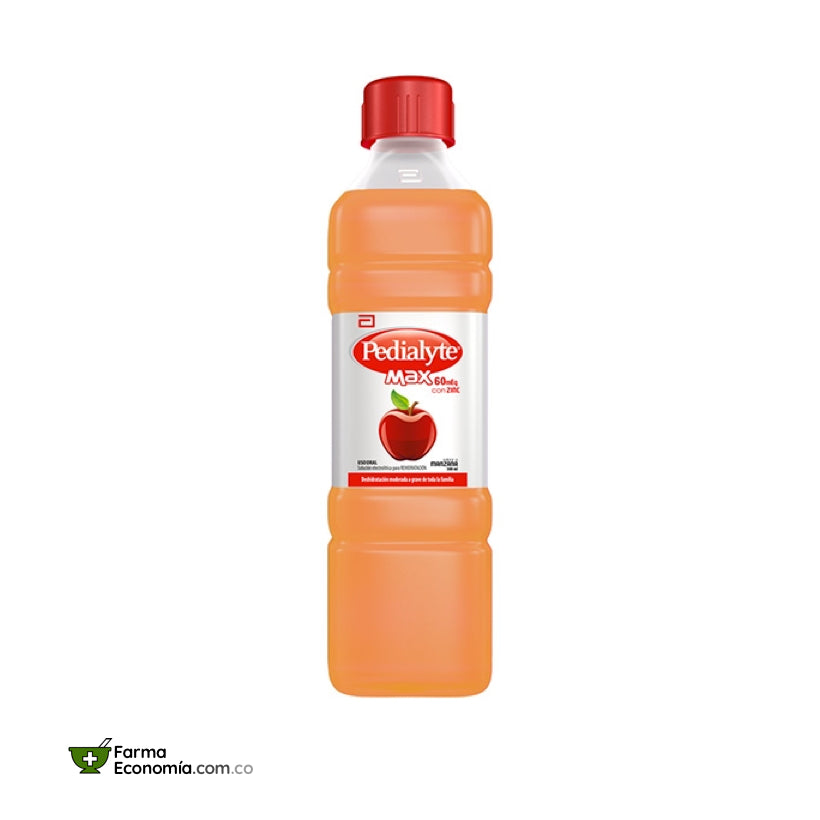 Pedialyte 60 con Zinc 500 mL. Manzana