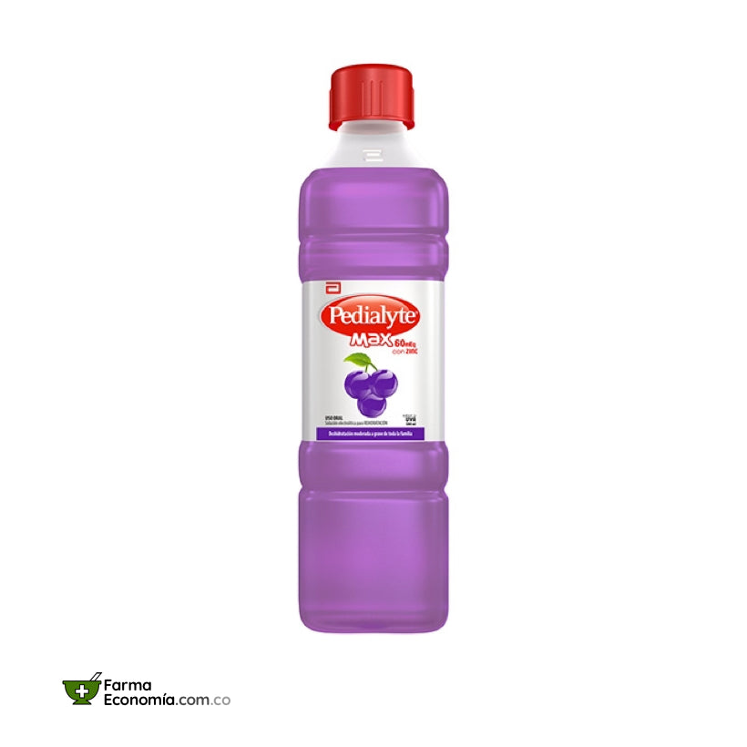 Pedialyte 60 con Zinc 500 mL. Uva