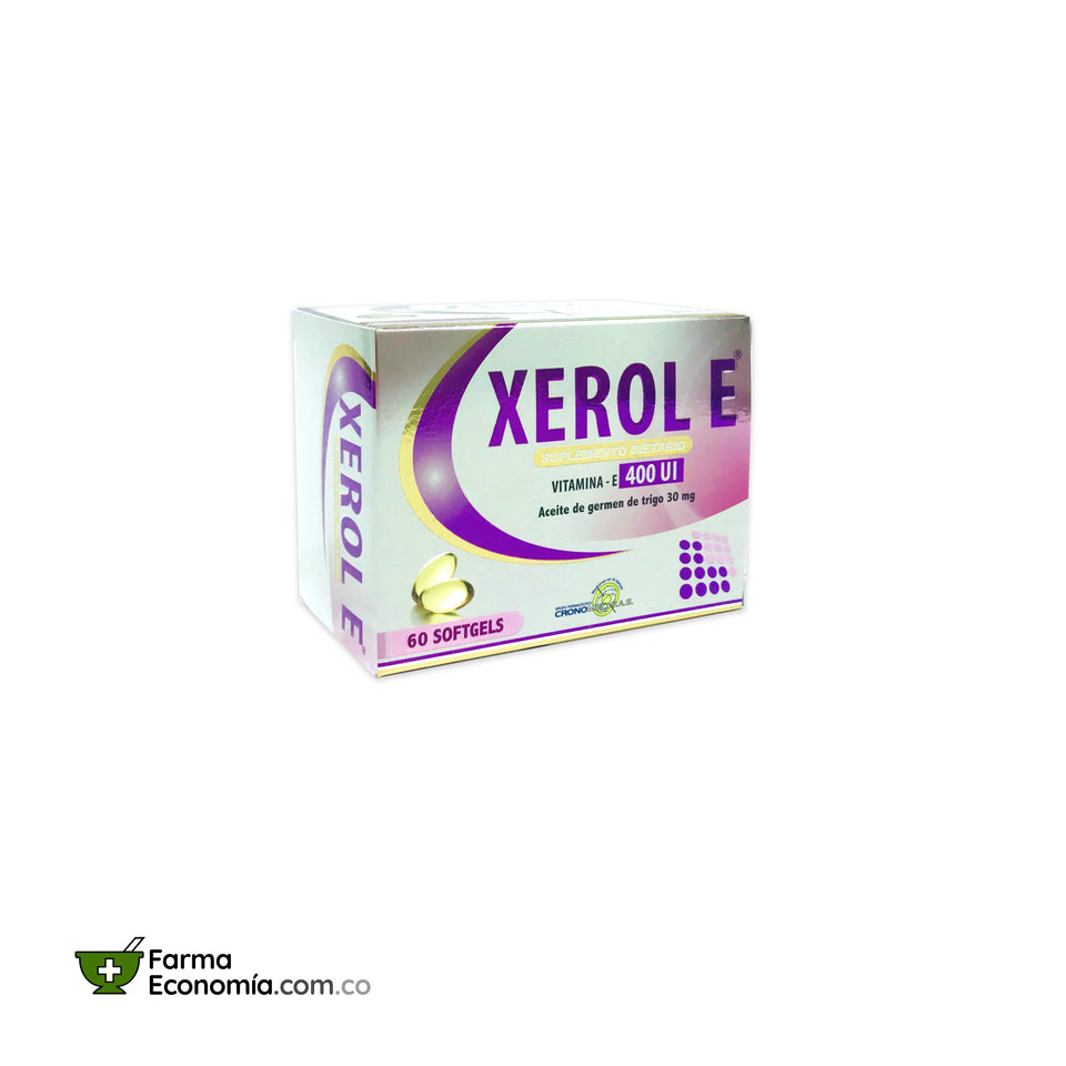 Xerol E 400 UI x 60 Softgels