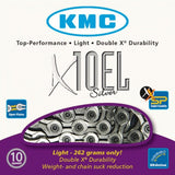 KMC Bicycle Chain - X10EL Silver