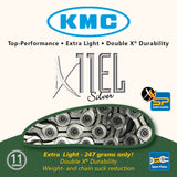 KMC Bicycle Chain - X11EL Silver
