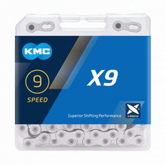 KMC Bicycle Chain - X9 Silver
