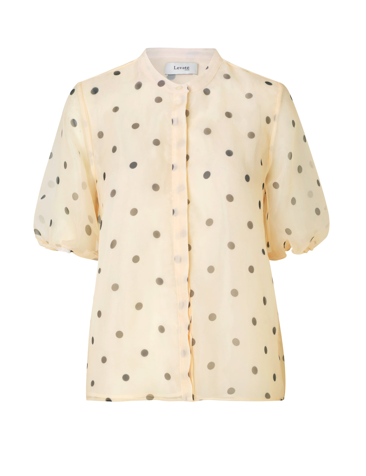 Kada Puff Sleeve Shirt - Black/White Dot