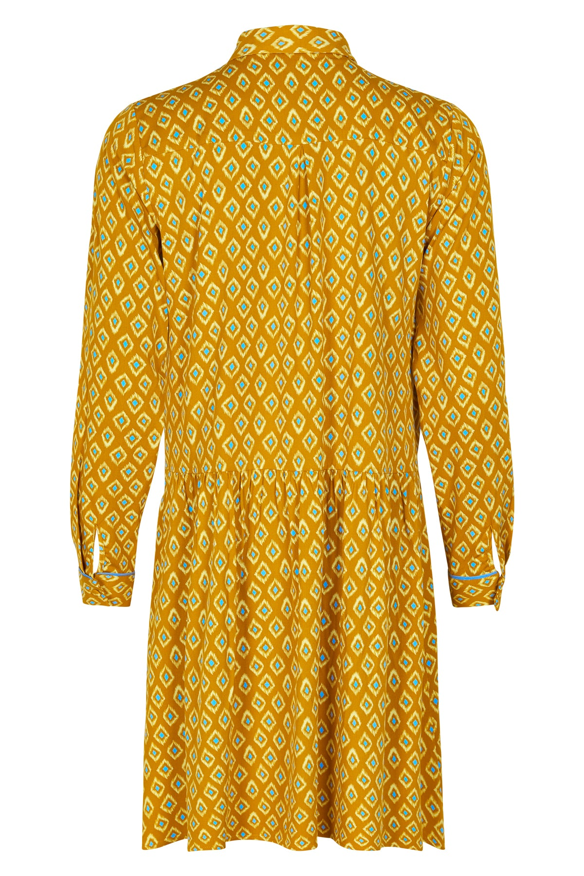 Nuailani Dress -  Mustard Geometric Pattern