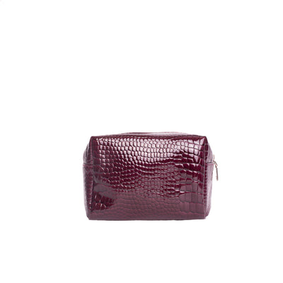 Aver Croc Small Toiletry Bag - Maroon