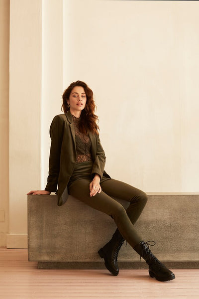 Velvet Stretch Leggings - Deep Dark Woods