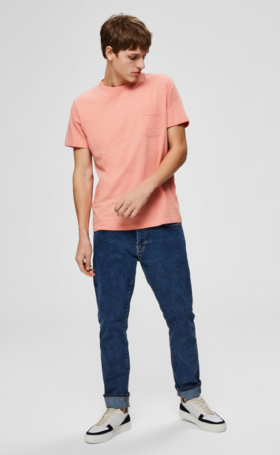 Jared O Neck Regular Fit Tee - Lobster Bisque