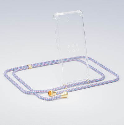 Phone Chain w. Clear Phone Case - Vibrant Pastel