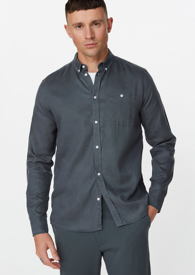 Laurent Tencel Shirt - Blue Fog