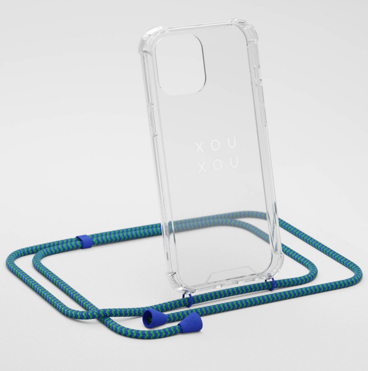 Phone Chain w. Clear Phone Case - Yves Green