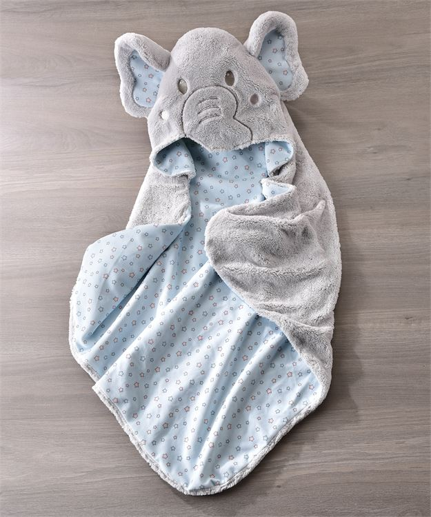 Li'l Elephant Character Design Hooded Bath Towel