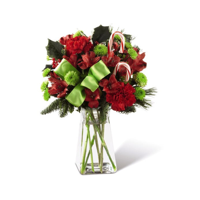 Vase Candy Cane Lane - Winnipeg Flower Delivery by Broadway Florists