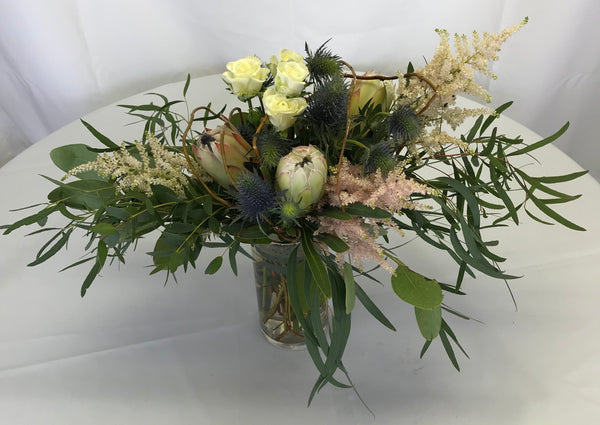 White protea bouquet - Winnipeg Flower Delivery by Broadway Florists