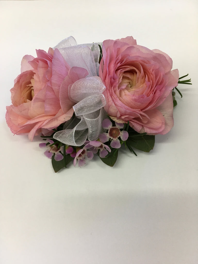 Pink Ranunculus Corsage - Winnipeg Flower Delivery by Broadway Florists