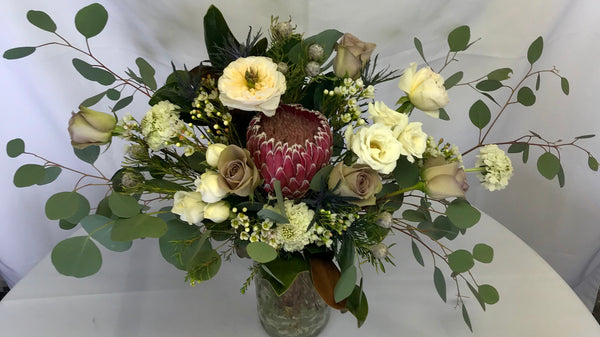 Pink Protea wedding Bouquet - Winnipeg Flower Delivery by Broadway Florists