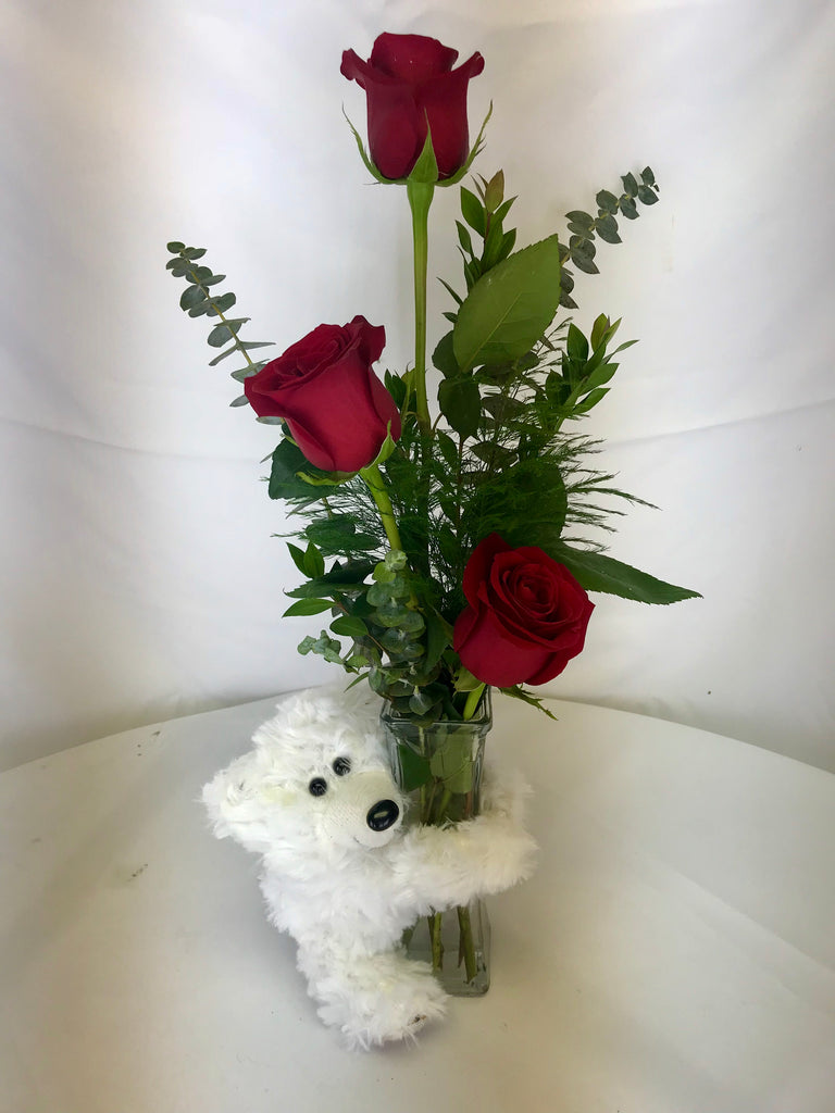 Bears and Roses - Winnipeg Flower Delivery by Broadway Florists