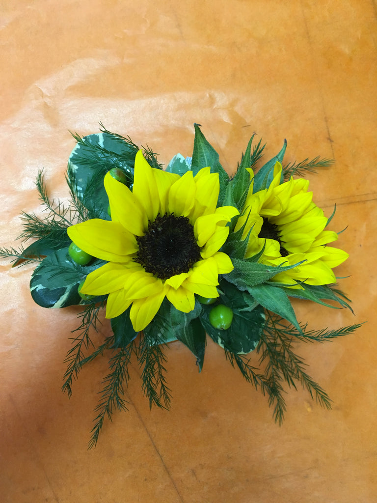 Sunflower corsage - Winnipeg Flower Delivery by Broadway Florists