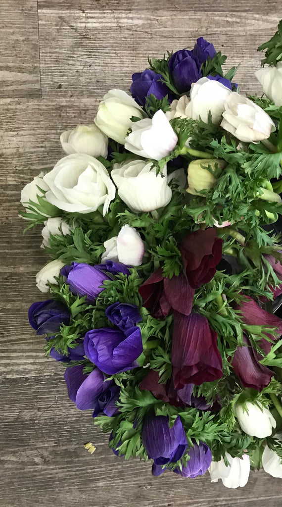 10 stem Anemone bouquet - Winnipeg Flower Delivery by Broadway Florists