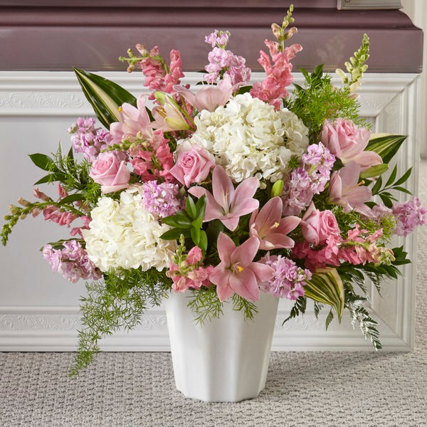Simple Serene Floor basket - Winnipeg Flower Delivery by Broadway Florists