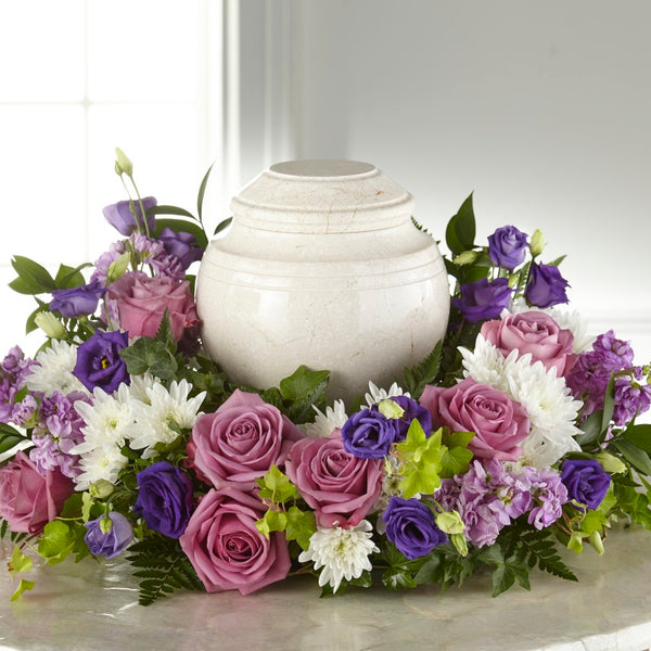 Blooming Sympathy Cremation Adornment - Winnipeg Flower Delivery by Broadway Florists
