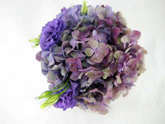 Hydrangea Lisianthus Bouquet is a popular in the summer and fall months. - Winnipeg Flower Delivery by Broadway Florists