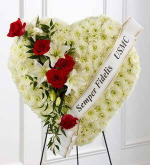 The FTD Salute to a Patriot Standing Heart - Winnipeg Flower Delivery by Broadway Florists