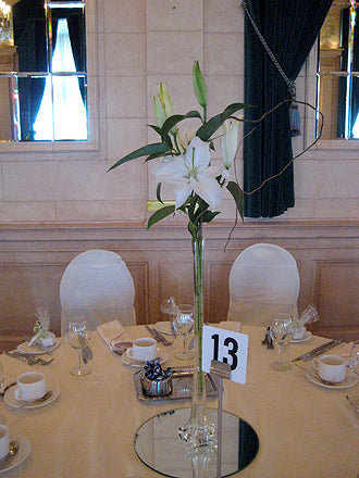 White Lily in Eiffel Tower Vase - Winnipeg Flower Delivery by Broadway Florists