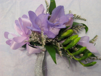 Mauve Freesia Corsage - Winnipeg Flower Delivery by Broadway Florists