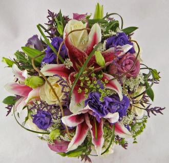 Lavender wedding bouquet. - Winnipeg Flower Delivery by Broadway Florists