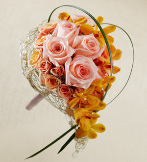 The FTD Peach Waterfall Bouquet - Winnipeg Flower Delivery by Broadway Florists