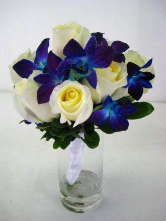 White and blue - Winnipeg Flower Delivery by Broadway Florists