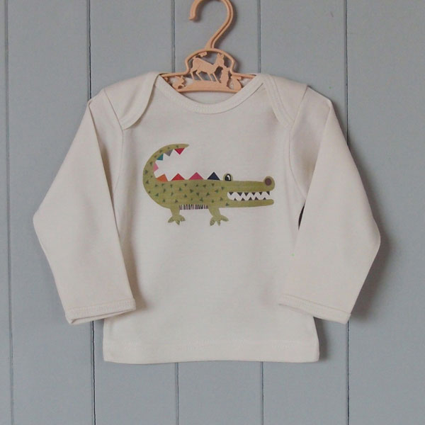 Organic Cotton Baby T-Shirt - Crocodile - BouChic