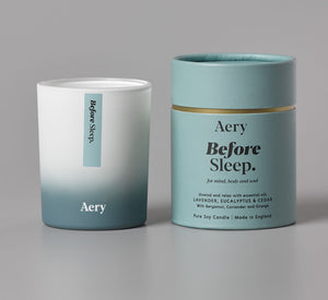 Aery Before Sleep Scented Candle - Lavender Eucalyptus and Cedar - BouChic