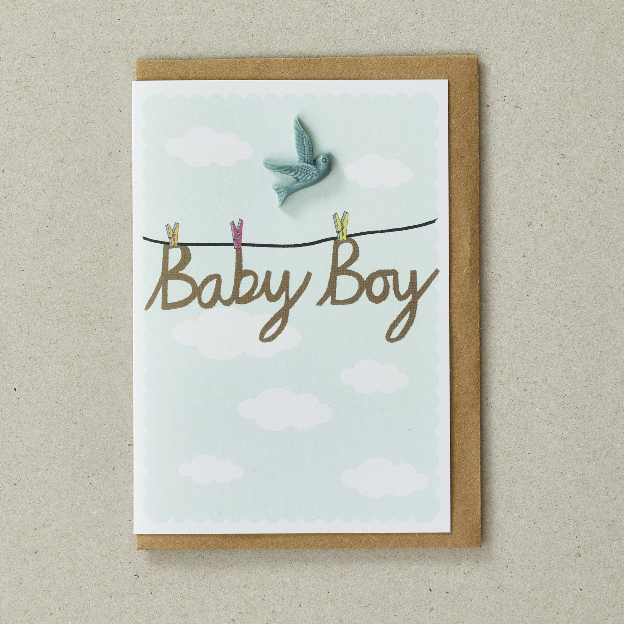 Baby Boy Resin Bird Gift Card - BouChic