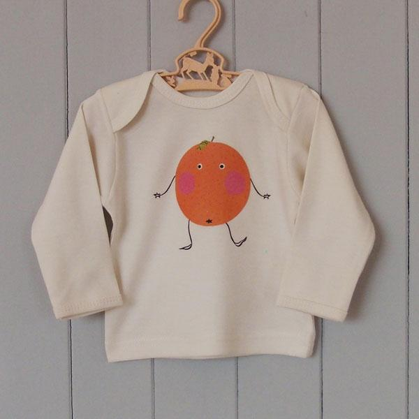 Organic Cotton Baby T-Shirt - Fruity Orange - BouChic