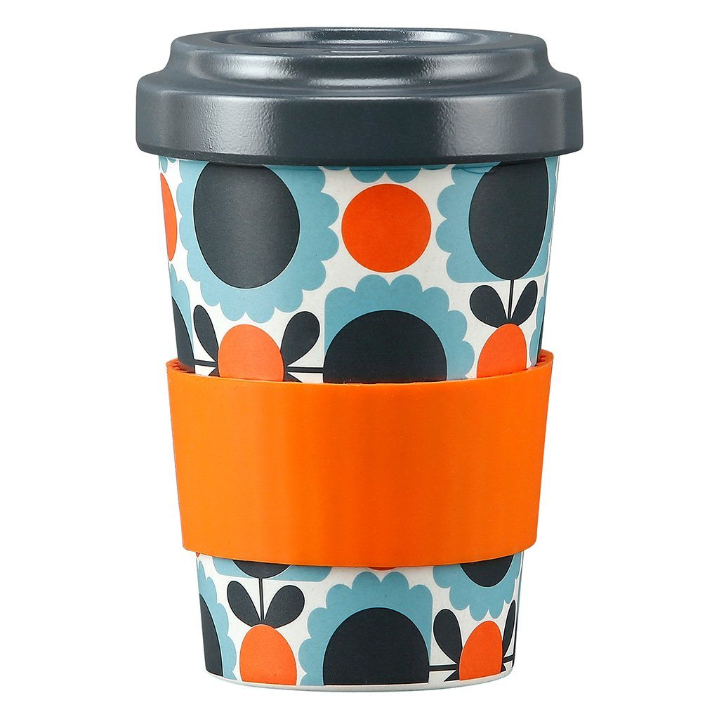Bamboo Travel Cup Scallop Flower Sky Orla Kiely - BouChic