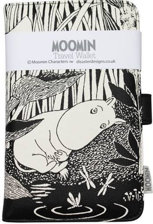 Black Moomins Midnight Dreaming Travel Wallet Moomin Bouchic