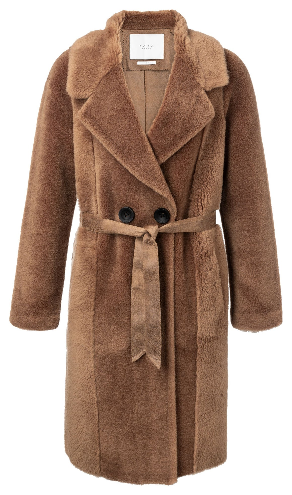 Brown YaYa Wool Lammy Coat Coat BouChic | Homeware, Fashion, Gifts, Accessories