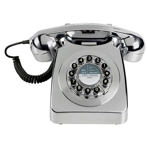 Brushed Chrome 746 Retro Phone - BouChic