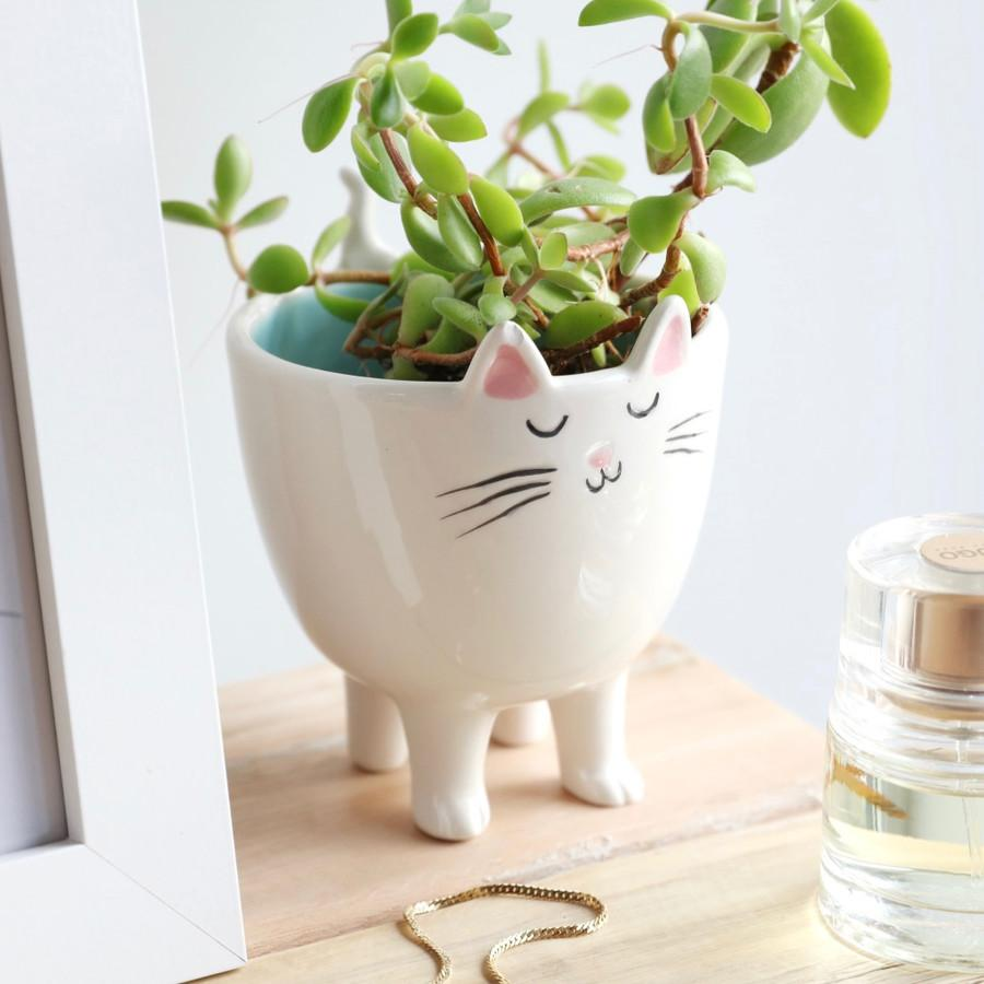 Cat Ceramic Planter - BouChic