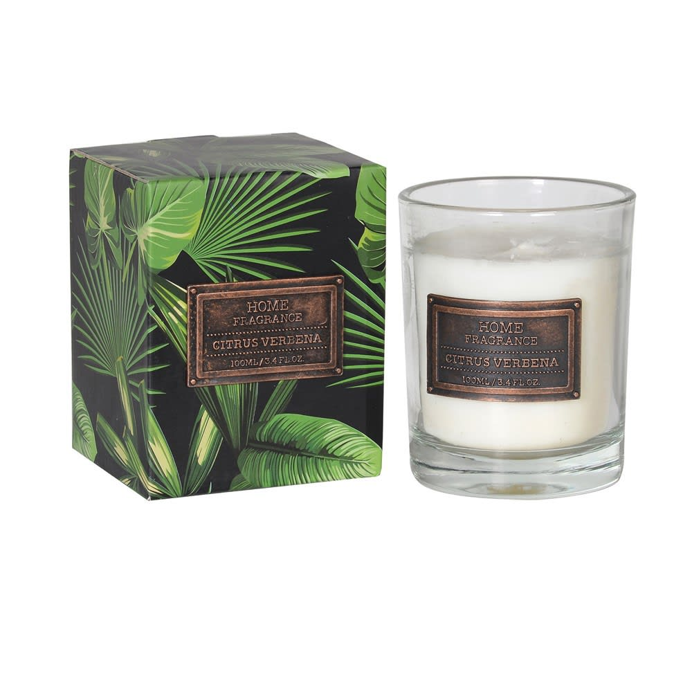 Citrus Verbena Glass Candle - BouChic